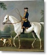 Sir Roger Burgoyne Riding 'badger' Metal Print