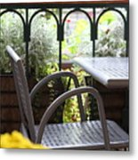 Sit A While Metal Print