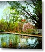 Sit And Ponder - Deep Cut Gardens Metal Print