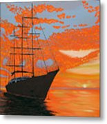 Sittin' On The Bay Metal Print
