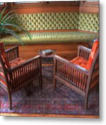 Sitting Area At Frank Lloyd Wright Home And Studio Metal Print
