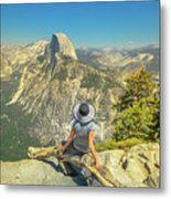 sitting at Glacier Point Metal Print