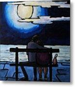 Sitting In The Moonlight. Metal Print
