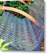 Sitting On A Park Bench Metal Print