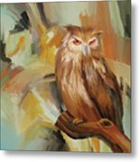 Sitting Owl Metal Print