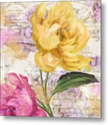 Sitting Pretty Peonies Metal Print