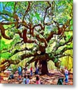 Sitting Under The Live Oaks Metal Print