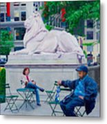 Sitting With Patience Metal Print
