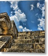 Six And A Half Steps From The Top Metal Print