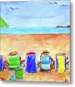 Six Beach Amigos Metal Print