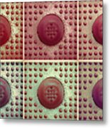 Six Panel Dot And Cube Landscape Metal Print