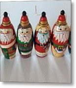 Six Russian Santas Metal Print