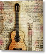 Six String Sages Metal Print
