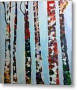 Six Tall Trees Metal Print