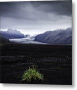 Skaftafellsjokull Glacier Metal Print