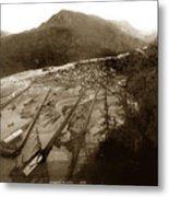 Skaguway, Alaska View From Hill Over Looking 1898 Metal Print