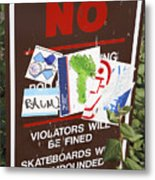 Skateboarder Commentary Metal Print