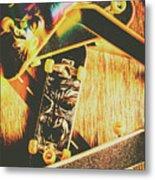 Skateboarding Tricks And Flips Metal Print
