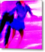 Skating Couple Abstract Metal Print