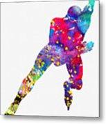 Skating Man-colorful Metal Print