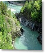 Bulkley River Canyon Metal Print