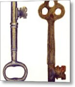 Skeleton Keys Metal Print