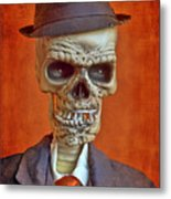 Skeleton Man Metal Print