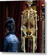 Skeleton Staff Metal Print