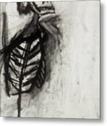 Skeleton Study Metal Print