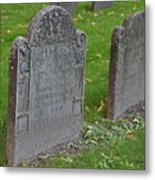 Skeleton Tombstone 1600s Metal Print