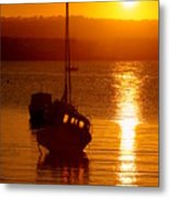 Skerries Harbour October Sunset  Metal Print