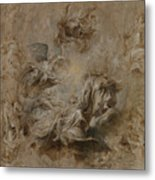 Sketch For The Banqueting House Ceiling Metal Print