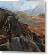 Sketch In Snowdonia Metal Print
