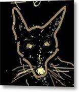 Sketch Of Fox By Kathy Barney Metal Print