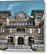 Sketch Of The Tt Wentworth Museum Metal Print