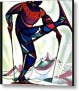 Ski Colorado, United States - Colorado Winter Sports - Retro Travel Poster - Vintage Poster Metal Print