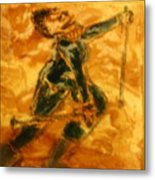 Ski Lady - Tile Metal Print