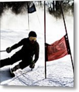 Ski Racer 2 Metal Print