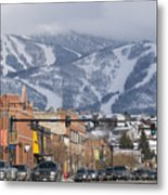 Ski Resort And Downtown Steamboat Metal Print