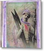Skiboarder Around 1930 Metal Print