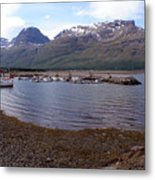 Skibotn Harbor Norway Metal Print