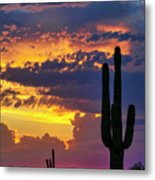 Skies Aglow In Arizona  Metal Print