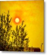 Skies Of Smoke And Fire Metal Print