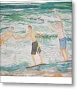 Skim Boarding Daytona Beach Metal Print