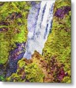 Skogafoss Waterfall #10 Metal Print