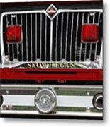 Skowhegan Maine Firetruck Grill Metal Print