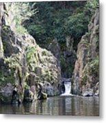 Skryje Waterfall And Pond Metal Print
