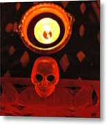Skull And Candle Metal Print