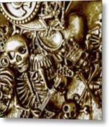 Skull And Cross Bone Treasure Metal Print