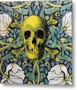 Skull And Cross4 Metal Print